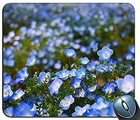 青い花ボケマウスパッドアンチスリップデスクトップマウスパッドゲーミングマウスパッド