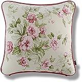 クッションカバー インポート 45x45cm スペイン製 デニリス 花柄 ピンク グリーン