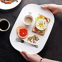 シンプルな不規則な食器 - ブレックファストケーキパンパスタデザートサラダプレート【1パック】 プレート