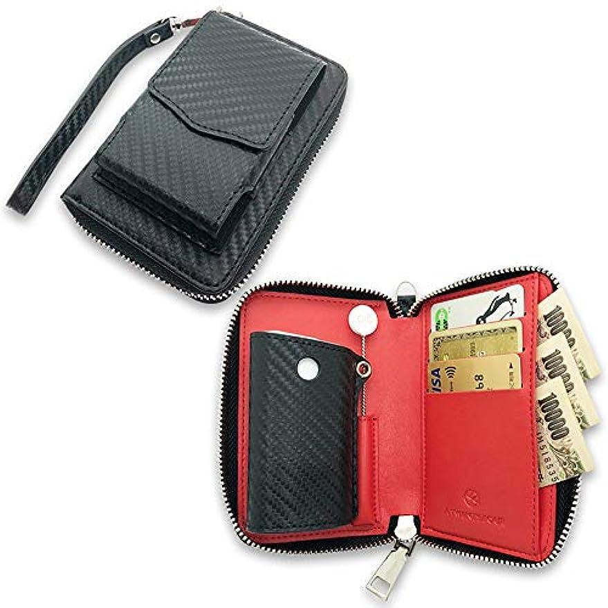 ユーモラストラックバトルA24 グロー ケース glo 高級 カーボン レザー 全部収納 財布 兼用 ギフト おしゃれ ( 本体ケース ストラップ 付き )