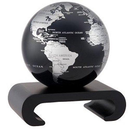 [ムーバ]Mova 4.5 Silver and Black Metallic Globe with Arched Base in Black MG-45-SBE-WPA-B [並行輸入品]
