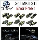 フォルクスワーゲン VW GOLF6 MK6 GTI ゴルフ6  ('09.9-'13.3)【 室内灯 パーフェクトセット 】LED 13カ所 キャンセラー内蔵  ルームランプ 6000K