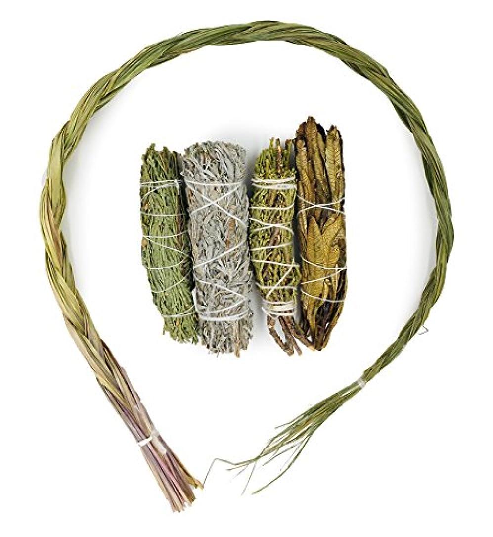 農夫スペア無視するAlternative想像力サンプルIncenseバンドル。Includes Cedar、Juniper、Yerbaサンタ、ブルーセージ、とSweetgrass
