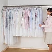 アストロ 洋服カバー 40枚組 スーツサイズ30枚+ロングサイズ10枚 フリル調 不織布製 大切な洋服をホコリや汚れから守ります! 605-11