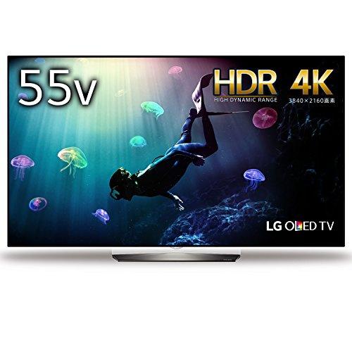 LG 55V型 4K 有機EL テレビ HDR対応 Wi-Fi内蔵 外付けHDD録画対応(裏番組録画) OLED55B6P