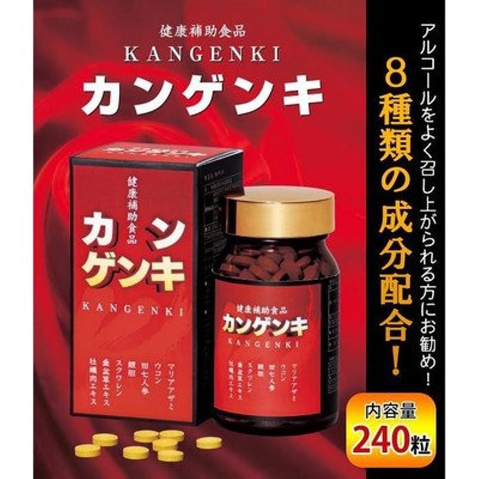 はっきりしない火山学吸収剤カンゲンキ 240粒 (健康補助食品)