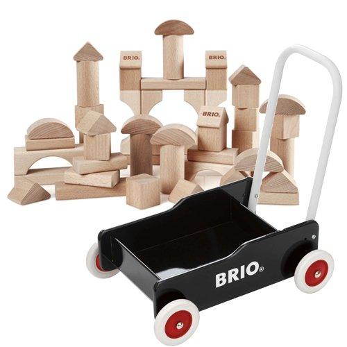 BRIO 手押し車(黒)+つみき50ピース 数量限定セット