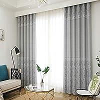 カーテン窓カーテンガーゼベッドルームシェーディング布プリーツブラインドブラックアウトカーテン、リビングルームバルコニー装飾窓 (色 : Gray, サイズ さいず : 1*W2.0*H2.7M)