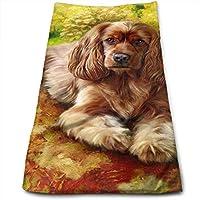豪華な暖かいカラフルな犬8 マイクロファイバー タオル 1枚セット 吸水速乾 ふわふわ 家庭用/ホテル/スポーツなどに最適