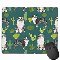 オーストラリアンシェパード犬サボテンサボテンオージー犬犬マウスパッド 25 x 30 cm