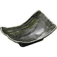 山下工芸(Yamasita craft) 黒織部 変形刺身鉢 10.8×17.3×4.5cm 11028050