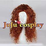 JuJucosplay メリダとおそろしの森 Brave メリダ コスプレウィッグ 耐熱性高品質ファイバー 専用ネット付き かつら|新ゲーム|キャラクター|ハロウィーン| コスチューム|イベント|変身|コスプレ衣装