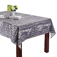 レトロな文字柄 ダイニングテーブル レストラン テーブルクロス コットン リビングルーム 装飾 パーティー テーブルクロス ウェディング デコレーション クロス 140x200 cm 55x79 inch