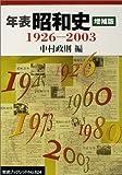 年表 昭和史 増補版19262003 (岩波ブックレット)