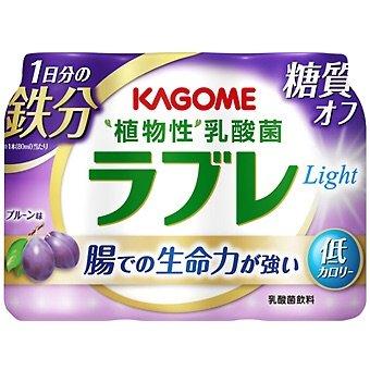 カゴメ 植物性乳酸菌ラブレLight 1日分の鉄分 80ml×3P 6パック