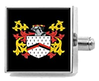 選択ギフトBlandy England家紋Surname Coat of Arms Cufflinks Personalisedケース