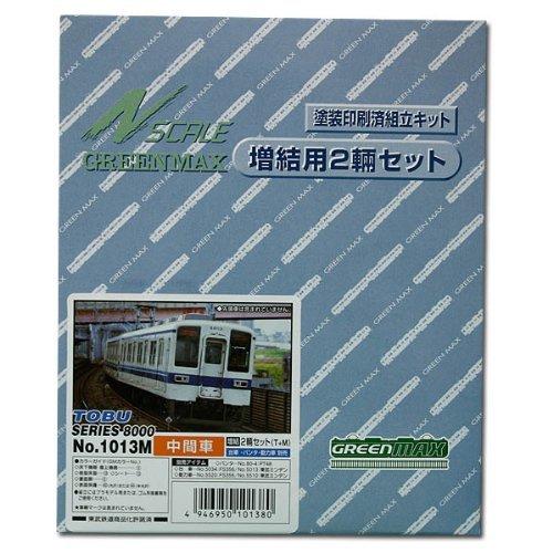 Nゲージ 1013M 東武8000系増結用中間車2輌 (塗装済車両キット)