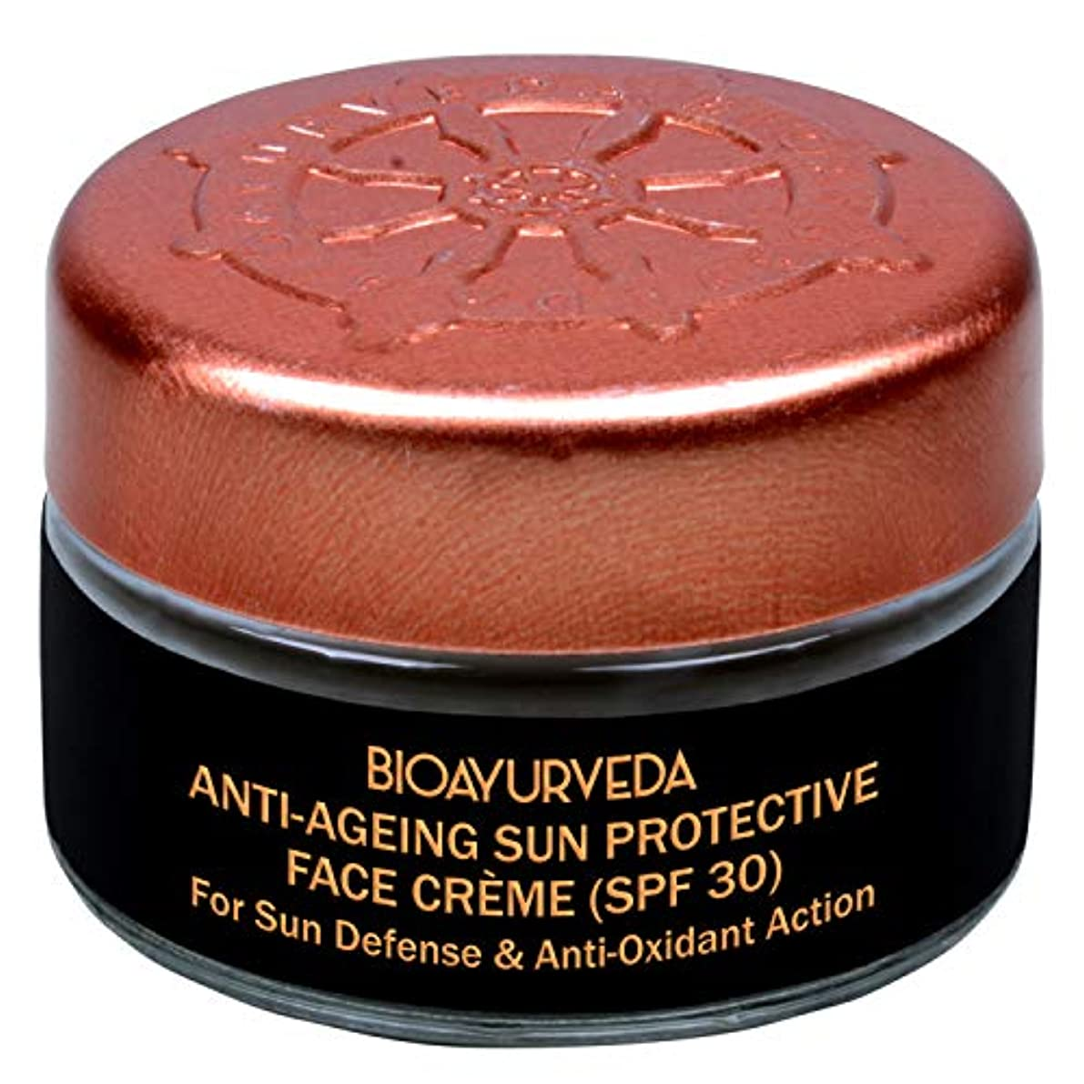 マカダムシチリアチューインガムBIOAYURVEDAアンチエイジングサンプロテクティブクリームwith SPF 30 |敏感肌またはニキビ肌に最適な日焼け止め|顔の保湿剤| (20g)
