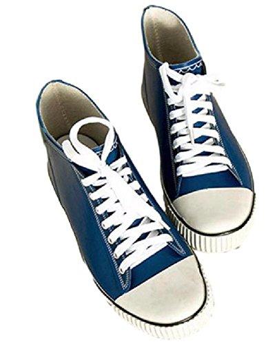 【SCGEHA】レインブーツ ショート 長靴 レディース キッズ 女の子 防水 チェック スニーカー 風 おしゃれ かわいい 3カラー 23.5cm 24.5cm 25.5cm 3サイズ (ブルー/25.5cm)