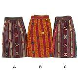 【国内Free】ブータン古布ミニラップスカート アンティーク布 選択,C1点