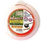三洋テグス 草刈用ナイロンコード トリマーキング オレンジ 丸型 汎用コード 2.4mm×50m巻 SC24RO-50