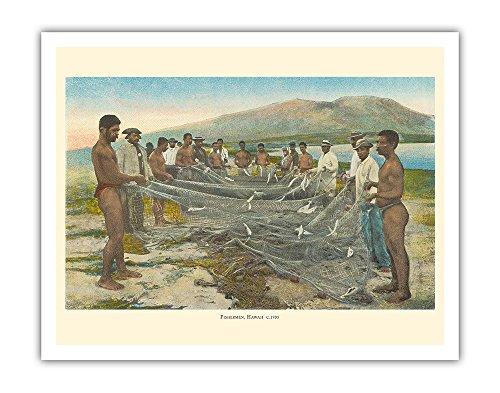 ハワイの漁師 - Hukilau 海岸釣り - から:ハワイ...