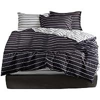 MOYEA 被套 四件套 床上用品被套 床上用品 枕套 被套 床笠 床上用品 柔软 适用四节 条纹款