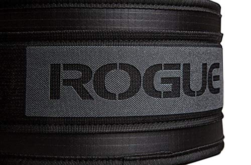 ROGUE FITNESS ローグ USA ナイロン ウェイトリフティングベルト (ブラック, XL) [並行輸入品]