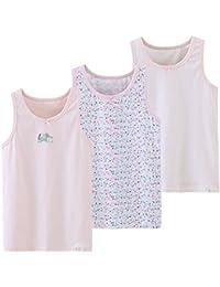 タンクトップ キッズ 女の子 子供用 Maya's 可愛すぎないピンク系 女児タンクトップ 3枚組 100~160cm
