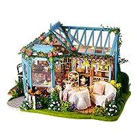 Perfeclan 1/24ドールハウス ミニチュア ガーデン ケーキショップ 手作りキットセット 手作り 組み立て