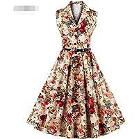 LaBiTi Women Vintage 1950's Hepburn Dress Swing Sundress Party Dress