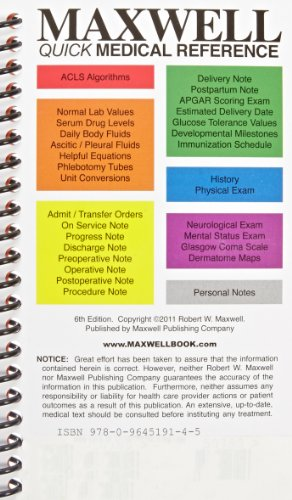 Download Maxwell Quick Medical Reference 0964519143