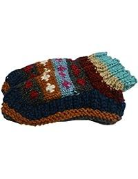 【ノーブランド品】 アジアン衣料 ネパール手編みウールソックス NKU-46