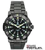スミス&ウェッソン S&W コマンダー ミリタリーウォッチ 発光トリチウム 腕時計 SW357BSS