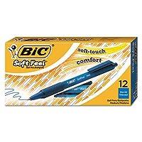 Soft Feel格納式ボールペン,ブルーインク, 1mm、M、ダース