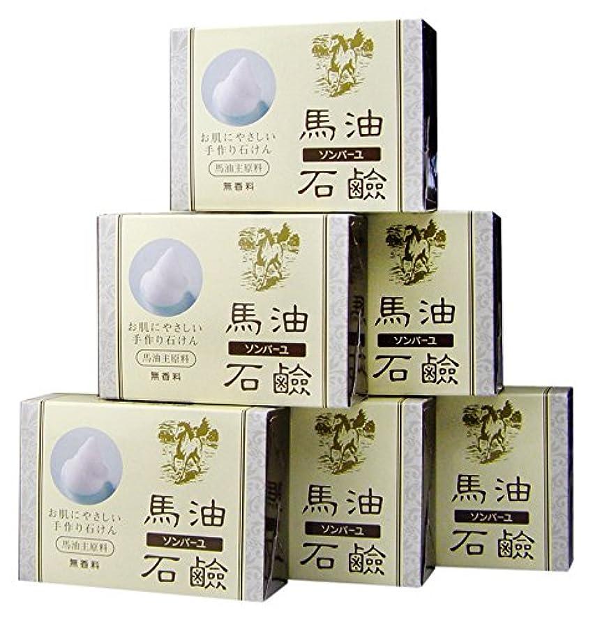 聖域賞賛再集計ソンバーユ馬油石鹸(無香料)6個入(85g×6)