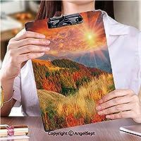 クリップボード クリップファイル 事務用品の文房具黄金の秋ストック画像 (1個)