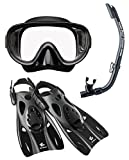 リーフツアラー マスク シュノーケル フィン 3点セット RP0102 ブラック Lサイズ