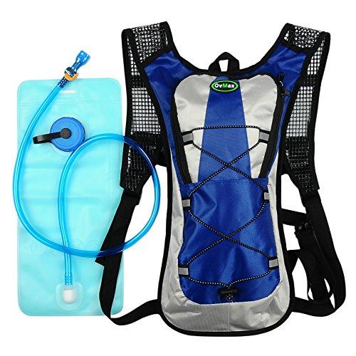 OvMax ハイドレーションバッグ 超軽量 ランニングバッグ サイクリングバッグ 水分補給 バックパック 2L 自転車 登山 タクティカル ランニング アウトドア