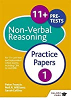 11+ Non-Verbal Reasoning Practice Papers 1 by Neil R Williams(2016-05-27)