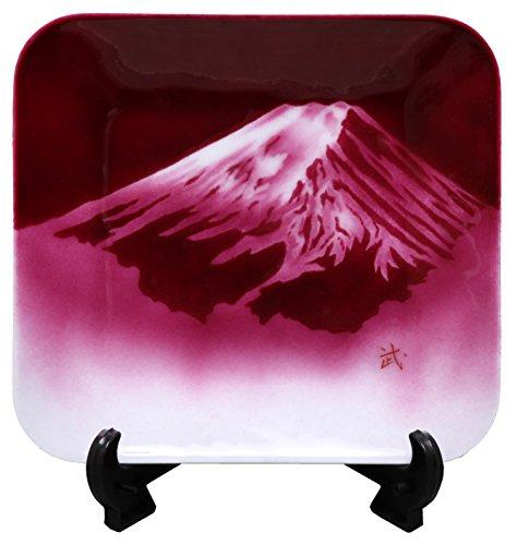 彩光舎 七宝焼き 忍野富士 飾り皿 EX-03