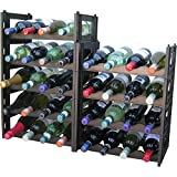 EziRak 36 Bottle Wine Rack- Black