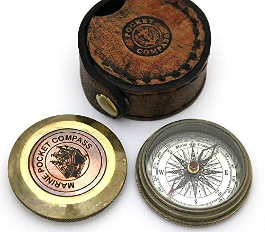 成果望むラベ詩compass-pocketコンパスWレザーケース – ポケットサイズ