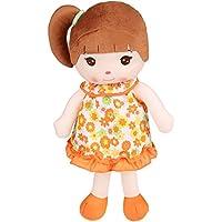 ファッション幼児用ガール人形、柔らかい布Plushフェアリープリンセス人形のガールズ、21.5インチBaby Cute Sweet Plush Soft人形 オレンジ DT-001