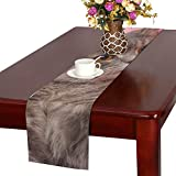 GGSXD テーブルランナー 幼い ピンク猫 クロス 食卓カバー 麻綿製 欧米 おしゃれ 16 Inch X 72 Inch (40cm X 182cm) キッチン ダイニング ホーム デコレーション モダン リビング 洗える