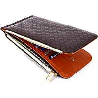 LDUNDUN-BAG, 2019 Ladies PU Leather Long Wallet New Women's Wallet Card Bag (Color : Brown, Size : S)