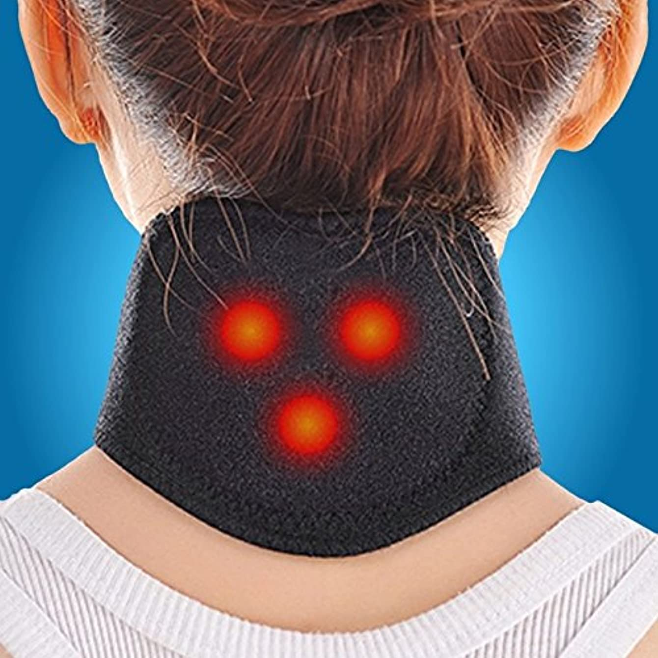 調べる適用するちょうつがいTourmaline Magnetic Therapy Neck Massager Cervical Vertebra Protection Spontaneous Heating Belt Body Massager...