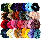 Mincheda 42 Pcs Hair Scrunchies Thick Korea Velvet Elastics Bobbles Hair Bands Scrunchy Hair Ties Ponytail Holder Scrunchie for Women Girls Hair Accessories- 42 Assorted Colors Scrunchies