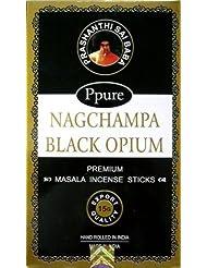 Ppure Nag ChampaプレミアムMasala Incense Sticks Black Opium