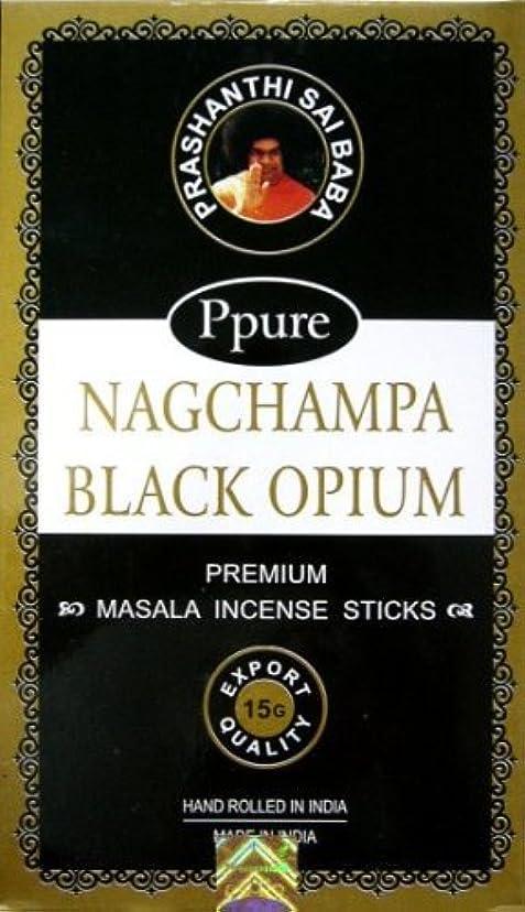 広告する肉のバックアップPpure Nag ChampaプレミアムMasala Incense Sticks Black Opium